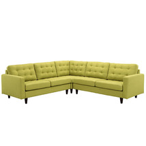 Modway Empress 3 Piece Fabric Sectional Sofa Set in Wheatgrass - €1.377,53 EUR