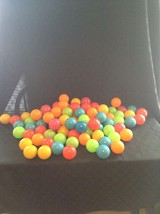 Stats Preowned Clean Quality Plastic 85 Piece Ball Set Colorful Play Fun  - £12.90 GBP