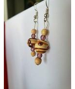 Brand New Handmade Wooden Bead Earrings - $9.99