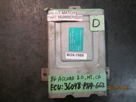 86 Honda Accord 2.0 L M/T Ca Ecu #36048 Ph4 662 *See Item Description* - $58.90