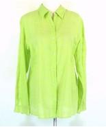 COLDWATER CREEK Size XL 16 18 Tonal Plaid Cotton Voile Shirt Blouse - $17.99