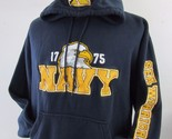 Champion Navy Sea Warriors Hoodie Sweatshirt Sweater Stitched Eagle Logo size L