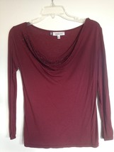 EUC Jennifer Lopez Purple Rhinestone Top Shirt 3/4 Sleeve Womens Size XS... - $12.19