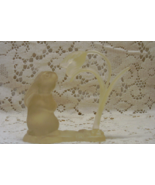 Vintage Hallmark Plastic Rabbit With Flower Figurine // Rabbit Smelling ... - $8.50