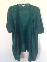 Silence + Noise Women's S Cap Sleeve Teal Green Sweater Shrug Urban Outf... - $15.94