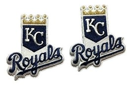 2 Kansas City Royals Embroidered Iron on Patch Set MLB - $6.99