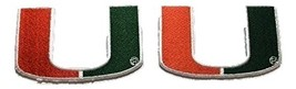 "2 Miami Hurricanes Embroidered Iron on Patch Set 3 1/4"" L - $5.87"