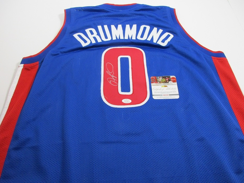 fdf75ecea9f8 Img 6605. Img 6605. Previous. ANDRE DRUMMOND - DETROIT PISTONS HAND SIGNED  BLUE BASKETBALL JERSEY - COA