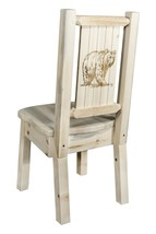 Farmhouse Style Dining Chairs Laser Engraved Western Lodge Cabin Amish M... - $342.00
