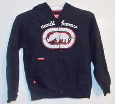 Ecko Boys Full Zip Hoodie World Famous Black Si... - $15.51