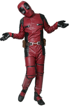 Deadpool Cosplay Movie Costume PU Outfit with Belt Fancy Dress Halloween... - $177.89 CAD