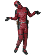 Deadpool Cosplay Movie Costume PU Outfit with Belt Fancy Dress Halloween... - $135.00