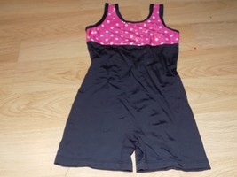 Child Size Small 4-6 Basic Moves Black Pink Dance Gymnastics Unitard Leo... - $16.00