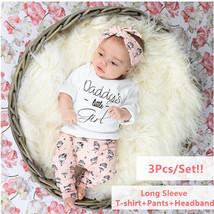 3Pcs Infant Clothing Set Newborn Baby Girls Clothes Long Sleeve Letter D... - $24.62