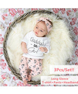 3Pcs Infant Clothing Set Newborn Baby Girls Clothes Long Sleeve Letter D... - $24.62