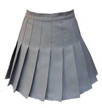 Beautifulfashionlife Women's High Waist Solid Pleated Mini Skort(XL , Black) - $28.70