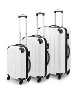NEW! 3PCS White Luggage Travel Spinner Set ABS ... - $178.74