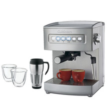 NEW!! Cuisinart EM-200 Programmable Stainless Steel Espresso Maker Bundl... - $156.25
