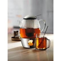 NEW!! Tea Set WMF SmarTea Teapot+Warmer 34oz capacity 18/10 Stainless Steel - $159.50