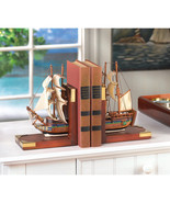 NEW!! Bookend Nautical Ship Decor Office Sailing Schooner Collector Vint... - $68.57