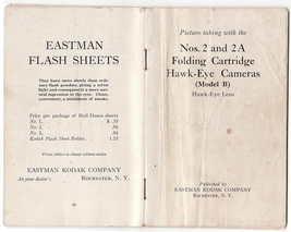Kodak Hawk-Eye Cameras No. 2 and 2A Instruction Book in Great Shape Coll... - $23.00