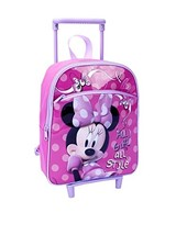 "Disney Jr Little Girls Minnie Mouse Rolling Mini Backpack 12"" - $29.39"