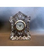 "Edinburgh Crystal Miniature Mantel Clock 2"" - $5.19"