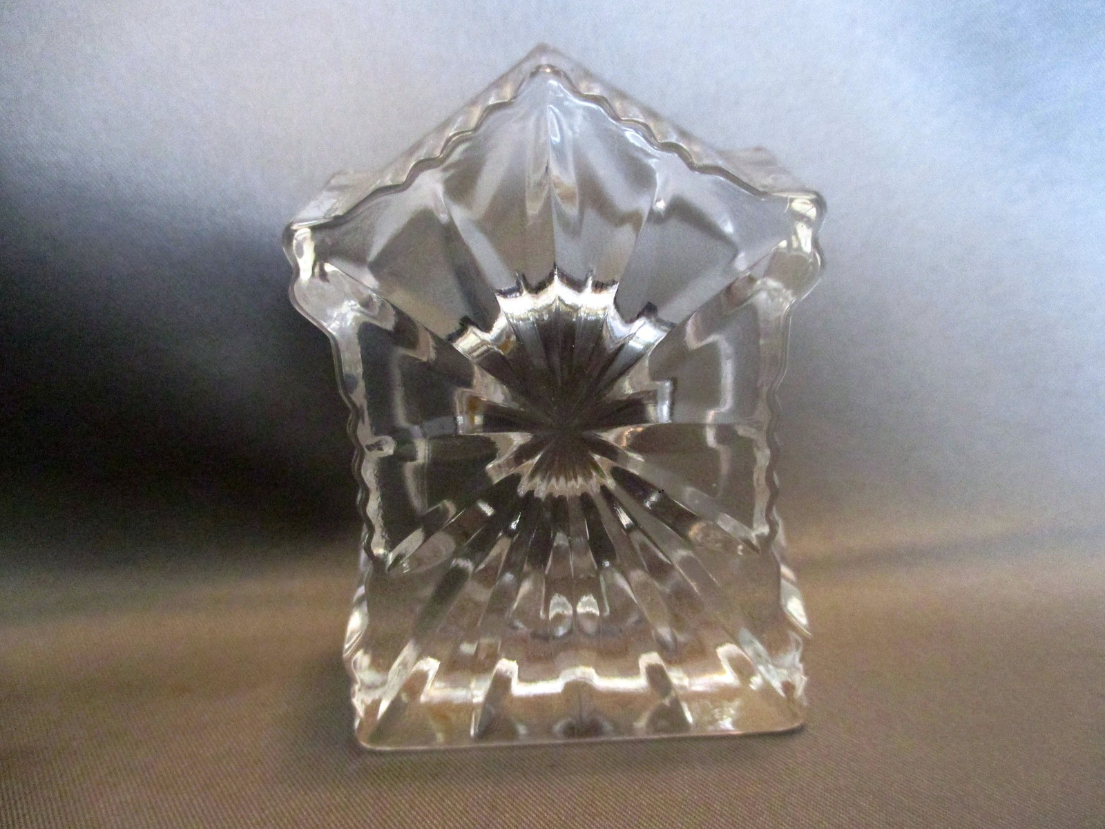 """Edinburgh Crystal Miniature Mantel Clock 2"""" image 4"""