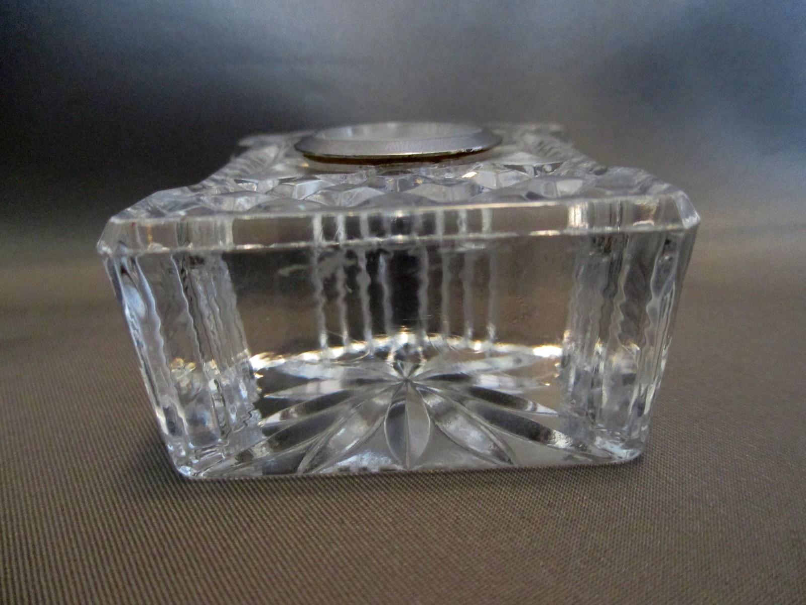 """Edinburgh Crystal Miniature Mantel Clock 2"""" image 5"""