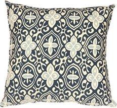 Pillow Decor - Alhambra Handprint Indigo 18X18 Throw Pillow - $34.95