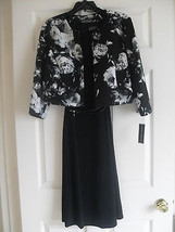 Jessica Howard New Black/Ivory Floral Print Jacket Dress   12  - €54,36 EUR
