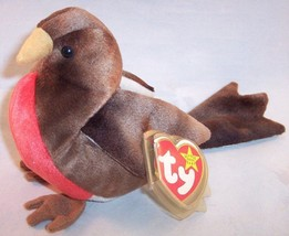 Ty Beanie Baby Original, Early the Robin with Heart Tag, 1997, Excellent... - $6.99