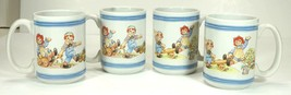 Raggedy Ann & Andy Mugs Houston Harvest set of 4 - $19.99