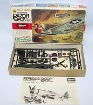 HASEGAWA 1:72 Scale THUNDERBOLT RAZORBACK P-47D US Army Fighter Jet Mode... - $20.00