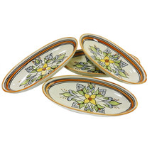 Le Souk Ceramique Salvena Design Small Oval Pla... - $106.26