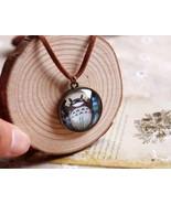 Fashion Miyazaki Hayao Totoro Meal Acrylic Pendant Necklace - $7.99