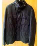 Authentic COACH Men's Wyatt Field Jacket Winter Coat NAVY - LARGE - $232.82