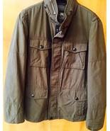 Authentic COACH Men's Wyatt Field Jacket Winter Coat OLIVE - MEDIUM - $232.82
