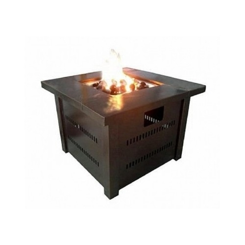 Bronze Patio Table Fire Pit Propane Patio Heater Outdoor Heating Center Table image 2