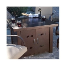 Bronze Patio Table Fire Pit Propane Patio Heater Outdoor Heating Center Table image 6