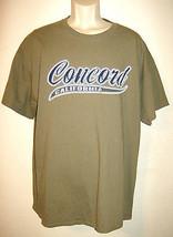 Gildan Mens X-Large Concord California T-Shirt Green 100% Cotton Free Ship USA - $17.28