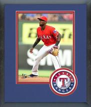 Jurickson Profar 2016 Texas Rangers - 11x14 Team Logo Matted/Framed Photo - $42.95