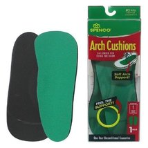 Spenco Rx Arch Cushion 3/4 Length Insoles Size #6 = Mens 14-15 - $18.76