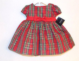 Holiday Editions Infant Girls Multicolor Plaid Dress Bloomers Size 3-6M NWT - $16.24