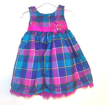 Holiday Editions Toddler Girls Multicolor Plaid Dress Size 24 Months NWT - $13.99