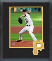 Jameson Taillon 2016 Pittsburgh Pirates - 11x14 Team Logo Matted/Framed Photo - $42.95