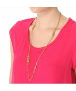 Golden Vintage Wheat Super Long Sweater Chain Necklace - $7.99