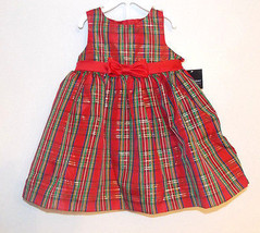 Holiday Editions Infant Girls Christmas  Plaid Dress Sizes 24M, 2T, 4T, 5T  NWT - $17.49
