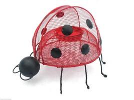 "Ladybug Red Metal Mesh Tealight Holder Large 6""L Cute Gift for Her Excel... - $11.57"