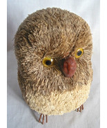 "Handcrafted Owl Figure 7"" Natural Materials Excellent Collectible Gift V... - $16.72"